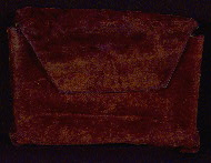 W.429, Velvet pouch front flap closed